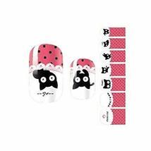 Set of 3 Nails Art Sticker Cute Black Cat Pattern Waterproof Nail Accessories