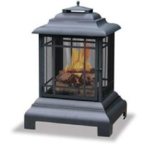 Uniflame Wood Pagoda Firepit Firehouse Outdoor Patio Deck Fireplace - $179.00