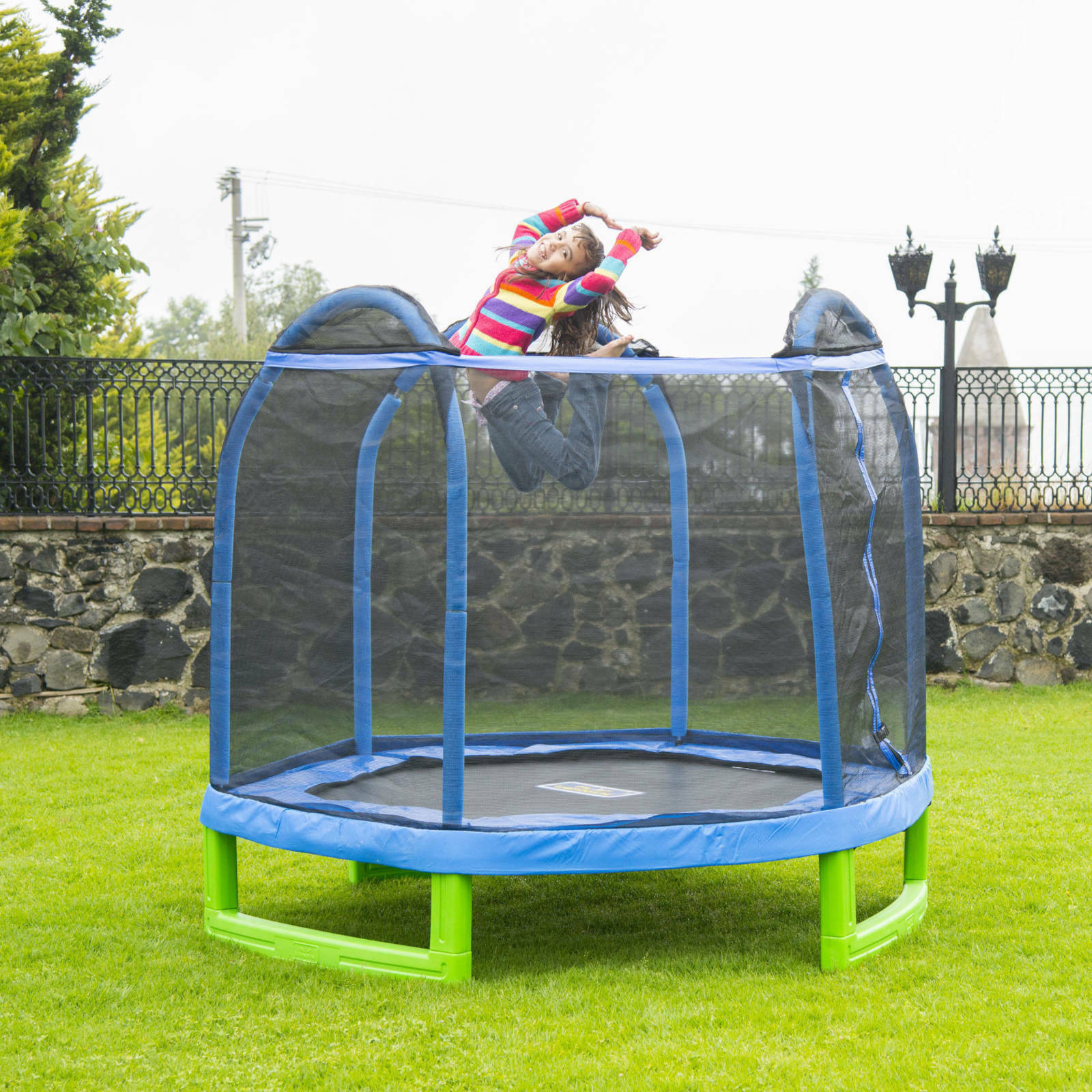 Trampoline Parts Center Coupon Code: Outdoor Trampoline Bouncer For Kids With Net 7 Ft Hexagon
