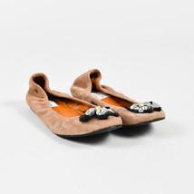 Lanvin Brown Suede Rhinestone Embellished Ballet Flats SZ 37 - $130.00