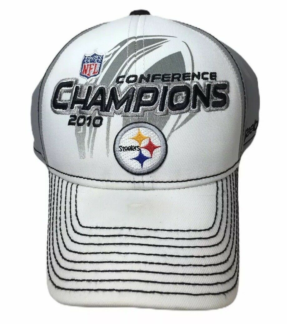 Reebok Pittsburgh Steelers Hat Adult AFC  Conference Champs 2010 Super Bowl XLV - $17.19
