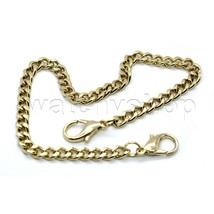 "Hamilton Gold color 11"" Link Mens  Pocket Watch Fob Chain Lobster Clasps... - $10.44"
