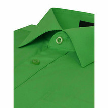 Omega Italy Men's Long Sleeve Solid Classic Green Button Up Dress Shirt  - XL image 2