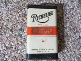 Richelieu Anise Seed Spice Latta Sprague Warner Co.Antico Paper Etichetta - $42.76