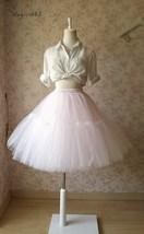 Women Girl Pink Tutu Skirt Princess Pink Midi Tulle Skirt 6 Layer Puffy Tutus image 3