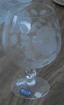 Nice Vintage Large Decor Size Pasabahce  Etched Glass Snifter, Turkey, V... - $24.74