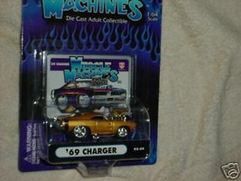 Muscle Machines '69 Charger Gold 02-54 Mip Free Usa Shipping - $11.29