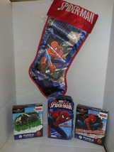 Spiderman Christmas Gift Set: Storybook, Puzzles and Christmas Hologram ... - $22.76