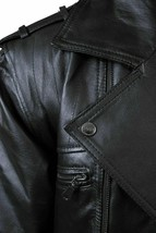 NEW Live Mechanics RFL Riders For Life Rockabilly Black Genuine Leather Jacket image 2