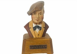 Richard Wagner Wooden Music Box Figurine bust Swiss Reuge Germany Weddin... - $64.35