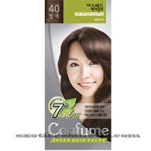 CONFUME 7 MINUTE SPEED HERBAL HAIR COLOR DYE - S40 NUT BROWN - $11.99