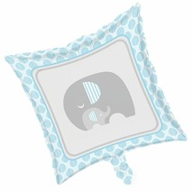Little Peanut Boy Metallic Foil Balloon Blue Elephant Baby Shower - $4.17