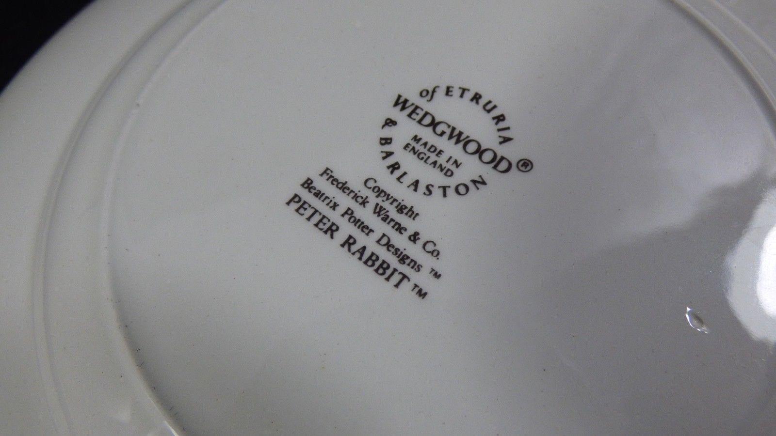 Wedgwood England Peter Rabbit Children 3 Piece Nursery story Set bowl plate cup image 9