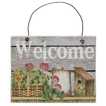Basket, Flowers Welcome Sign - $25.41