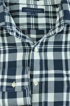 Tommy Hilfiger Men's Blue & White Plaid Cotton Dress Shirt 16 x 34/35 - $17.99