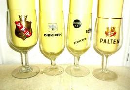 4 Champignuelles Diekirch Pelforth Palten European Beer Glasses - $14.95