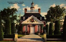 LINEN POSTCARD-GOVERNOR'S PALACE GARDEN, WILLIAMSBURG, VA  BK16 - $1.96
