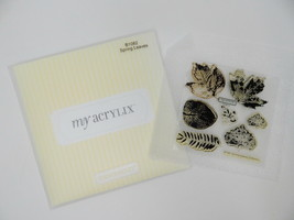 Close To My Heart Acrylix Stamp Set B1082 Spring Leaves Foliage Rustic Oak Fall - $9.89