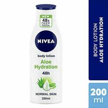 NIVEA Body Lotion, Aloe Hydration, with Aloe Vera, 200ml/6.76 fl oz, (Pa... - $20.01