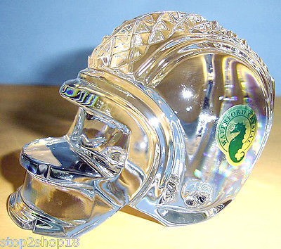 Waterford Crystal Football Helmet Paperweight Made In Ireland New In Box