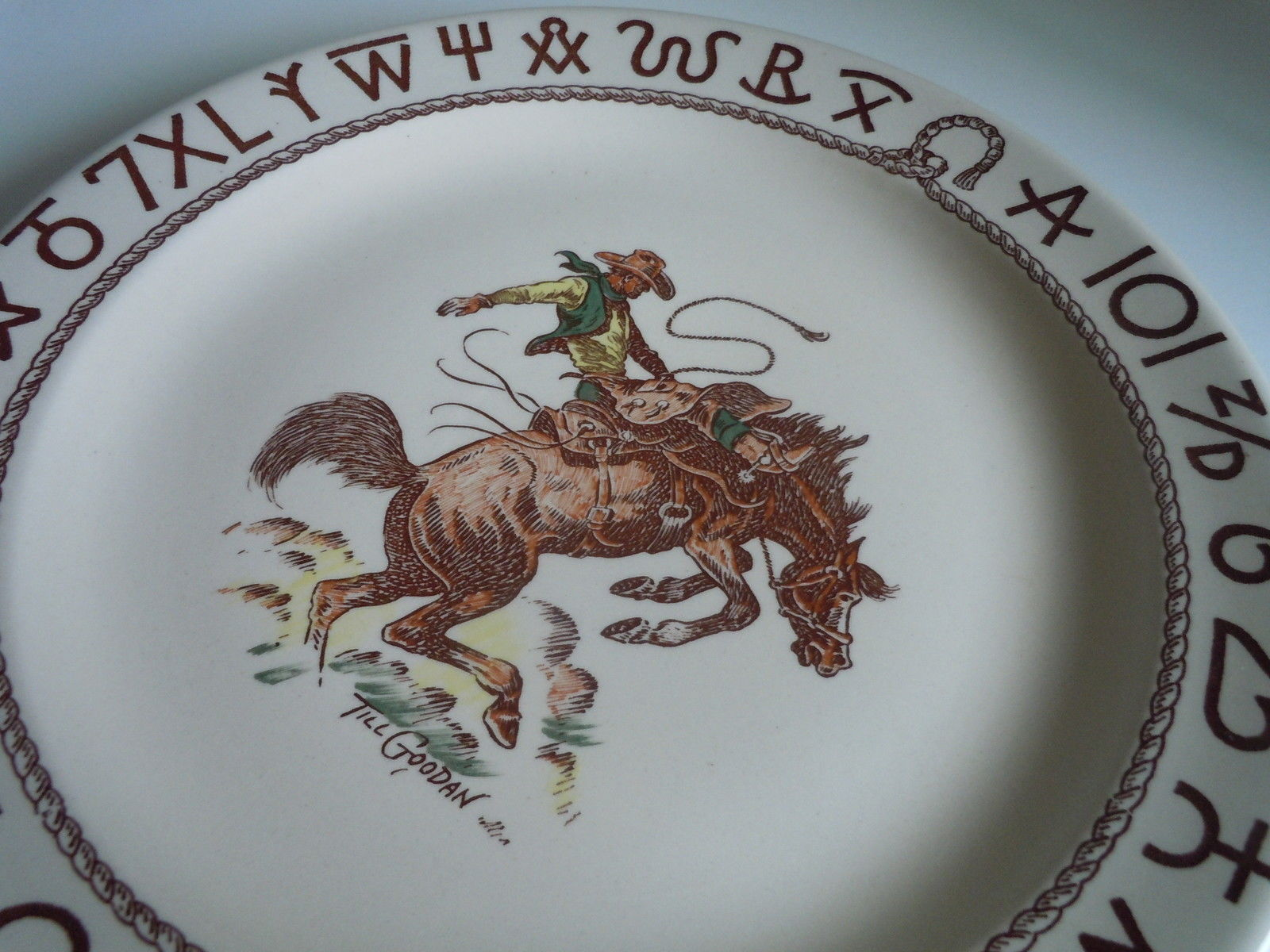Wallace Rodeo Dinner plate image 2