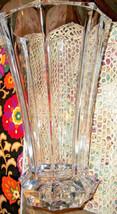 """Vintage Lead Crystal HEAVY 12"""" Ball Bottom Vase Must See! - $29.39"""