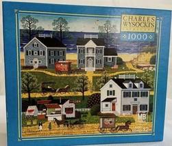 Charles Wysocki 1000 piece Jigsaw Puzzle  Game Gull's Nest  2005 Challen... - $22.28