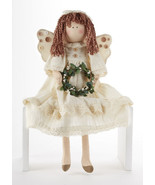 Delton Products 21 Inches Sitting Cream Angel with Wreath Collectible Doll - €29,01 EUR
