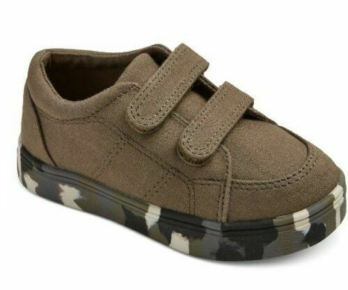 Cat & Jack Toddler Boy's Diemerro Casual Sneakers Green With Camo Bottoms New