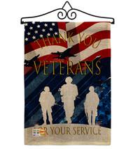 Thank You Veterans Burlap - Impressions Decorative Metal Wall Hanger Gar... - $33.97