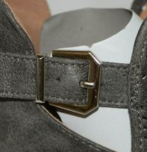 Qupid Maze125 Grey Distress Pu Closed Toe Block Heel Ankle Boots Size 6 image 7