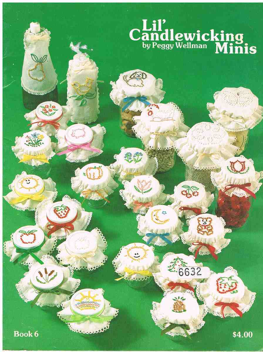 Vintage Embroidery Craft Boook Lil' Candlewicking Minis