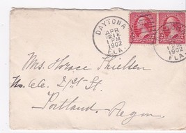DAYTONA FLORIDA APRIL 21 1902 MAILED TO PORTLAND OREGON - $1.98