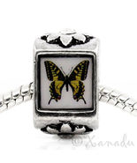 Monarch Butterfly European Charm Bead For European Charm Bracelets And N... - $10.00