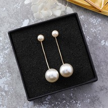 2020 Hot Fashion Big And Small Simulated Pearl Dangle Pendientes For Lad... - $8.08