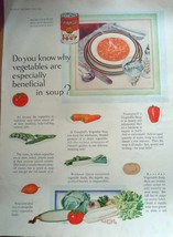 Campbell's Vegetable Soup Magazine Advertising Print Ad Art 1929 - $6.99