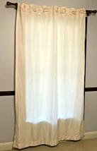 One DKNY Curtain Panel Lovely Flowers Across Top Lined Hidden Rod Cream Linen - $19.60
