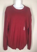 NWT Nautica Vintage Red Drop Needle Crewneck Sweater XL MSRP $69.50 - $20.85