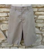 "Polo Ralph Lauren Shorts Sz 34 Khaki Tan Flat Front 11.5"" Inseam 5 Pocket - £19.62 GBP"