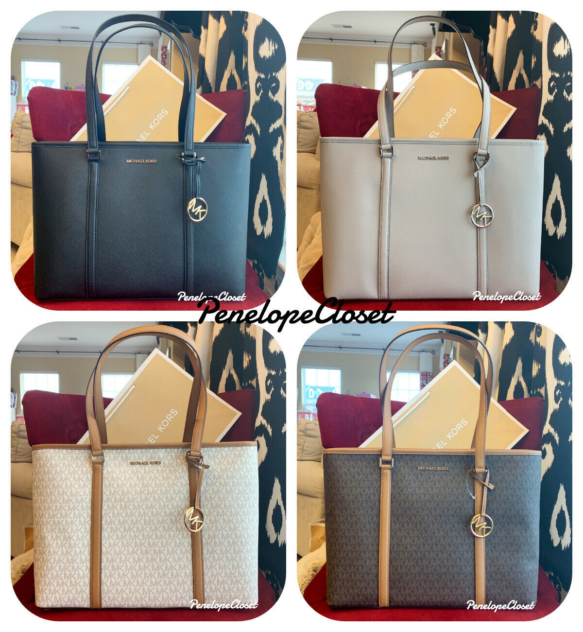 4cfcd4e97b NWT MICHAEL KORS SADY LARGE MULTIFUNCTION TOP ZIP TOTE BAG IN VARIOUS -   117.88 -  178.88