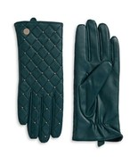 Calvin Klein Quilted Leather Gloves (Cypress, S) - $49.40
