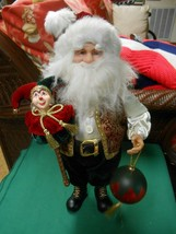 Great Collectible SANTA CLAUS figure ...with Joker Figure - $22.36
