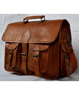 Men's Genuine Leather Briefcase Messenger Satchel Ipad Tab Tablet Lapto... - $60.17