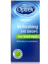 2 X Optrex Refreshing Eye Drops 10ml For Tired Eyes Free Shipping New - $18.33