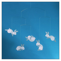 Hop Along Bunny Mobile by Louise Helmersen for Flensted Mobiles - $38.50