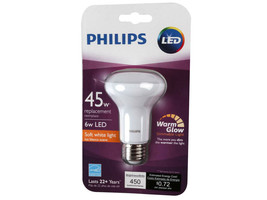 Philips Dimmable 6W 2700K to 2200K R20 LED Bulb - $14.84