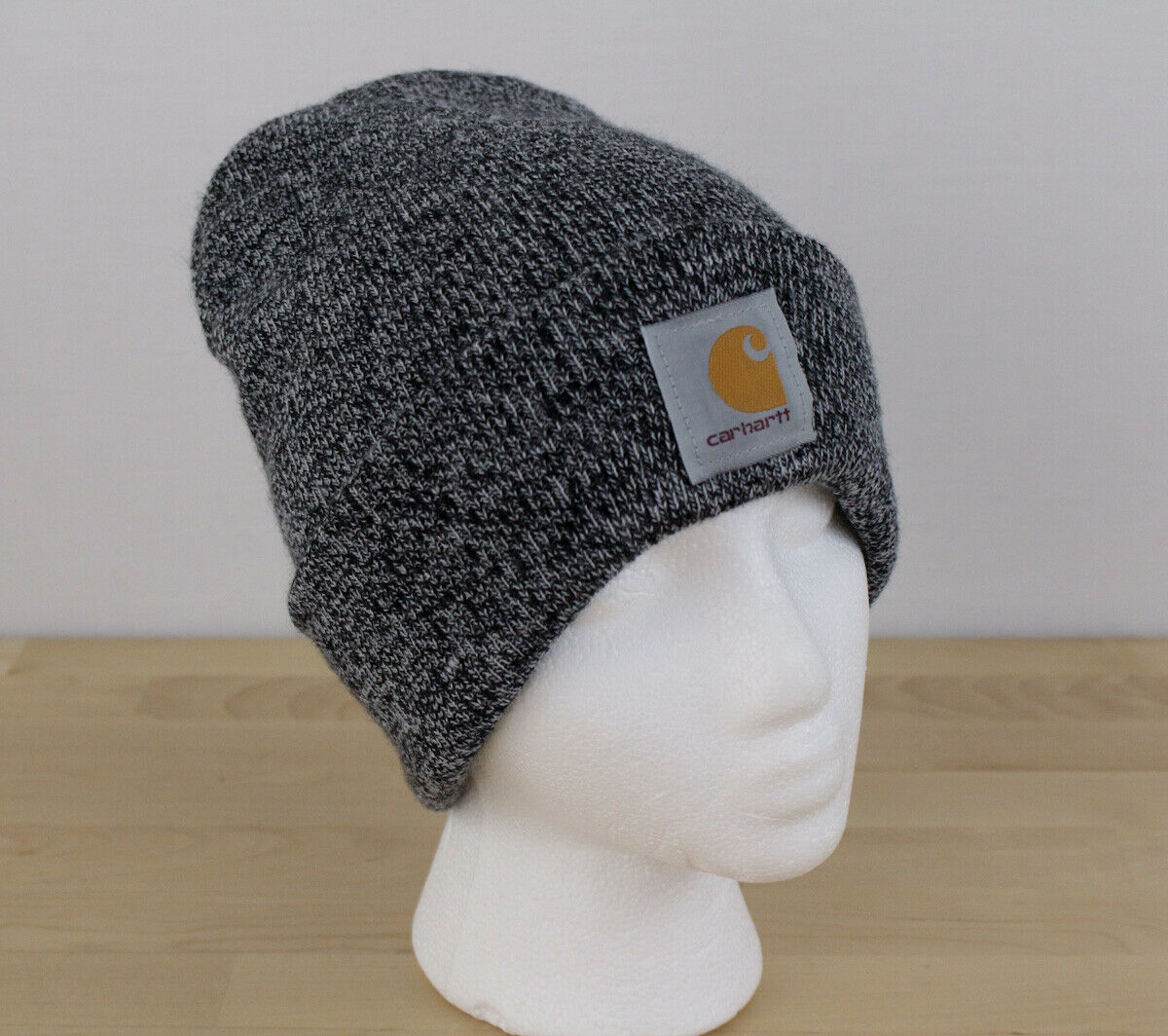 Primary image for Carhartt Toboggan Beanie Men's Gray Knit Acrylic Cuff A18 Hat Cap One Size