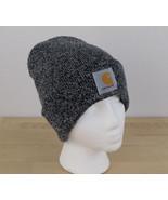 Carhartt Toboggan Beanie Men's Gray Knit Acrylic Cuff A18 Hat Cap One Size - $15.83