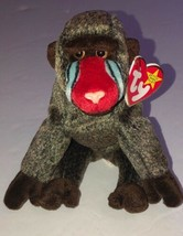 TY Beanie Baby CHEEKS the Baboon DOB 5-18-1999 W/Tags - $2.55
