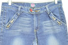 Fiorucci jeans 9 x 31 vintage buttons on pockets medium dark wash thick straight image 4